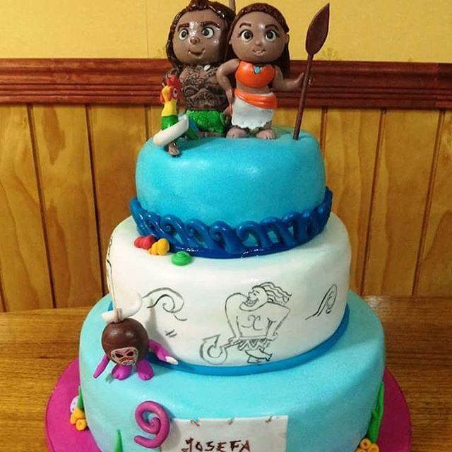 #Moana #Maui #fondant #cake by Volován Productos  #instacake #puq #Chile #VolovanProductos #Cakes #Cakestagram #SweetCake