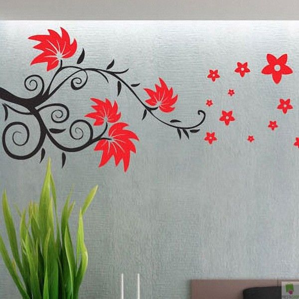 Floral Wall Decals | Floral Leaves Wall Decal