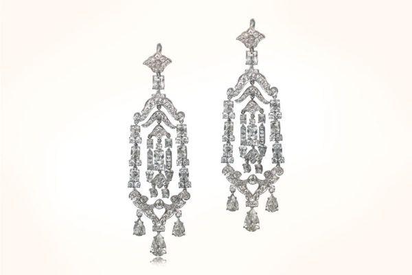 Rare Antique Edwardian Era Earrings. Circa 1910.