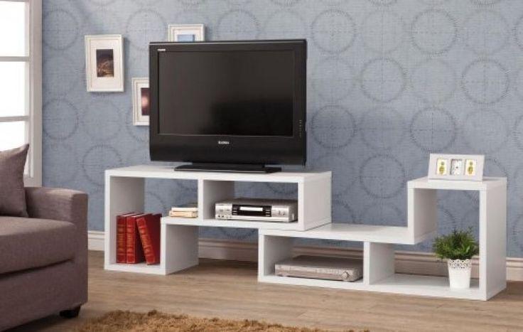 Bookcase Entertainment Center Furniture TV Stand Console Media Geometric White #CoasterHomeFurnishings #Contemporary
