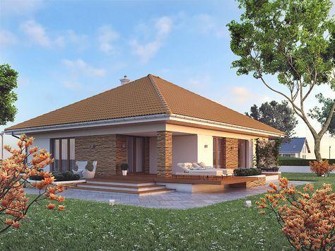 Ariel 6 (128,52 m2) to nowa wersja projektu Ariel z 30 stopniowym dachem. Pełna…