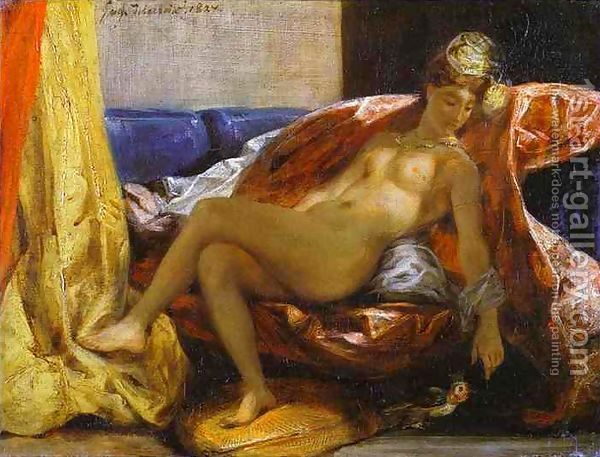 Reclining Odalisque by Eugene Delacroix