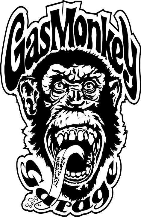 gas monkey calcos - (20 x 13 cm)