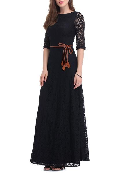 Look like the temptress that you are this summer with a black maxi lace dress.