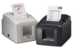 Star Micronics 39448610 Model TSP654U-24 GRY Thermal Printer, Friction, Cutter, USB, Without Power Supply, Gray  High reliability and performance at a low cost  Legacy application support  Fast printing (150mm/sec)  Drop-in and print paper loading  Optional vertical stand