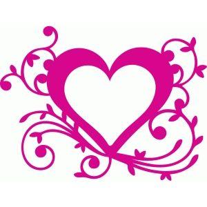 Silhouette Design Store - View Design #84524: leafy flourish heart