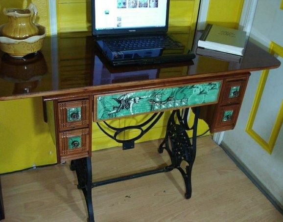 90 best ideas about sewing cabinet into vanity table on pinterest sewing machine tables - Four ways to repurpose an old sewing machine ...