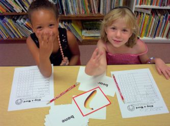 Clap a Word station! Use with picture word cards, and the students clap the syllables!