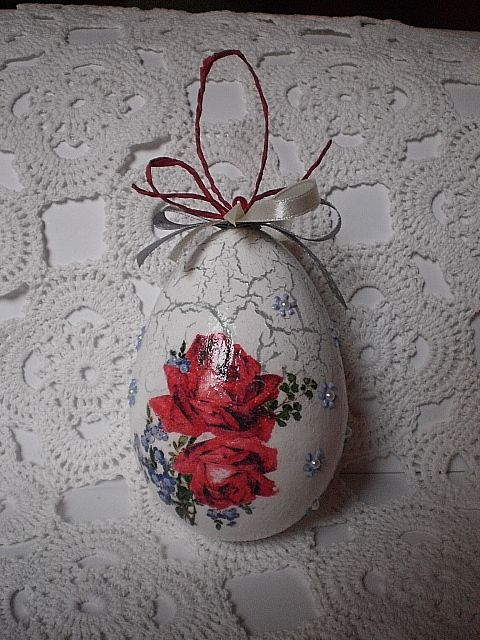 easter egg - decoupage, handmade by Joanna