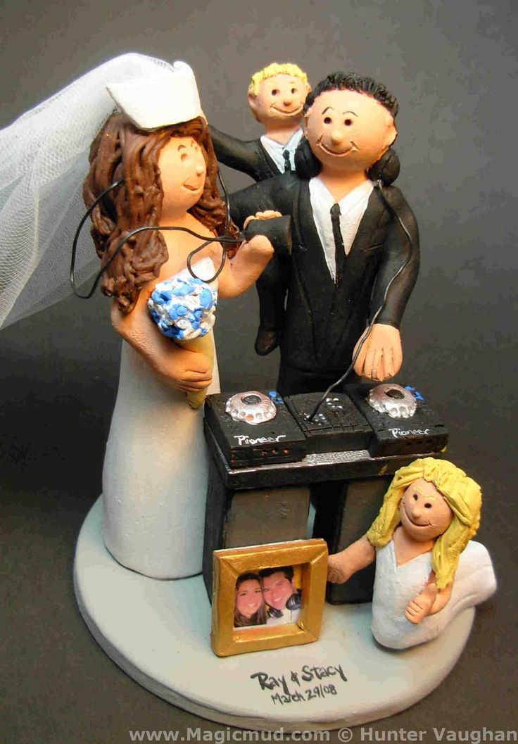 Nurse Marries DJ Wedding Cake Topper http://www.magicmud.com   1 800 231 9814  magicmud@magicmud.com $235  https://twitter.com/caketoppers         https://www.facebook.com/PersonalizedWeddingCakeToppers   #nurse#nursing#wedding #cake #toppers #custom #personalized #Groom #bride #anniversary #birthday#weddingcaketoppers#cake-toppers#figurine#gift#wedding-cake-toppers