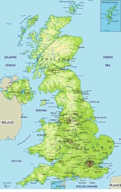 storbritannien kort