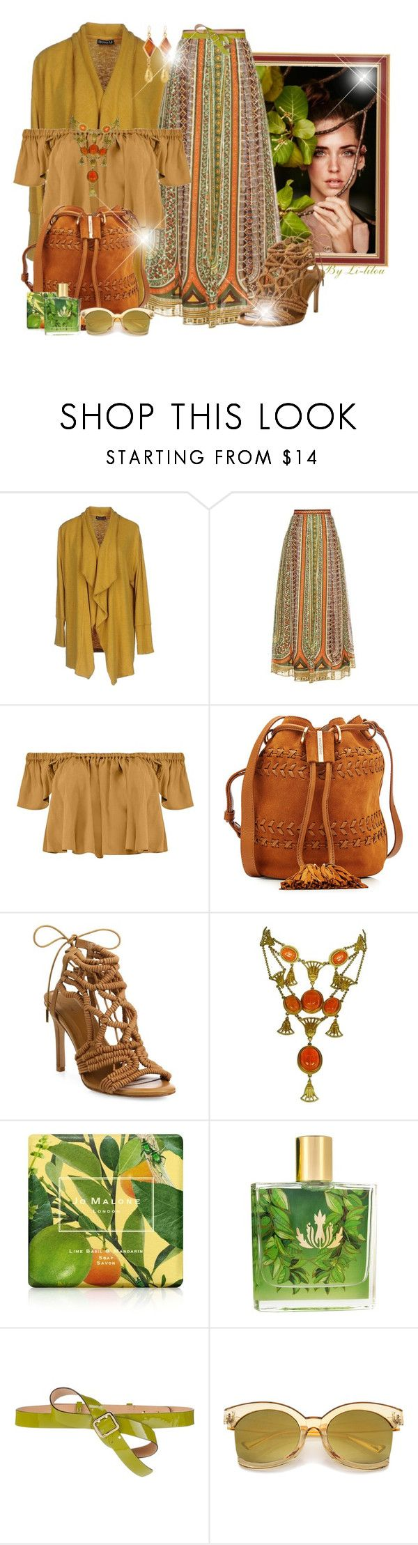 """~Camel & Green~"" by li-lilou ❤ liked on Polyvore featuring Valentino, Boohoo, See by Chloé, Joie, Christian Dior, Jo Malone, Malie Organics, Dsquared2 and Devon Leigh"