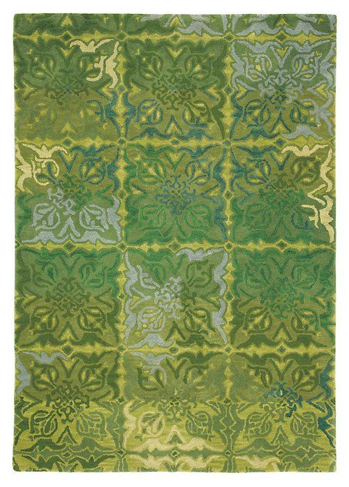 Our Courtyard Rug Washes A Gridded Ornamental Motif In The Early Greens Of  Spring   Willow, Moss, Chartreuse And Julep, With Hints Of Lake Blue.