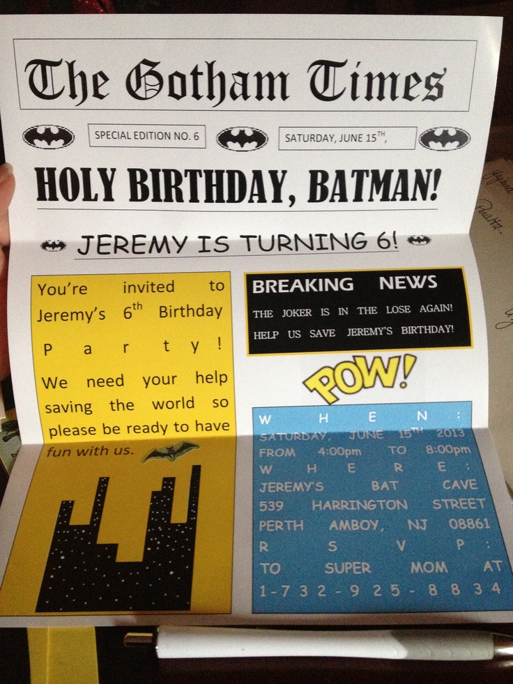 43 best images about Holy cupcakes Its a Batman party on – Batman Party Invites