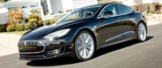 """Electric cars ftw """"Tesla model S. All electric. 300 miles per charge and 0-60 in under 6 seconds!"""""""