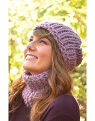"""Würde auch gerne mal wieder stricken, mit schöner dicker Wolle, für ungeduldige ;-) wie mich ... Materialset zu """"Inside Out Beanie & Quick Loop by Ana Kraft"""""""