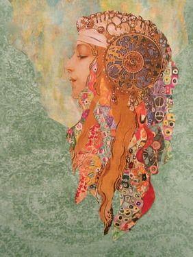 """Saatchi Online Artist Kanchan Mahon; Assemblage / Collage, """"Amira"""""""
