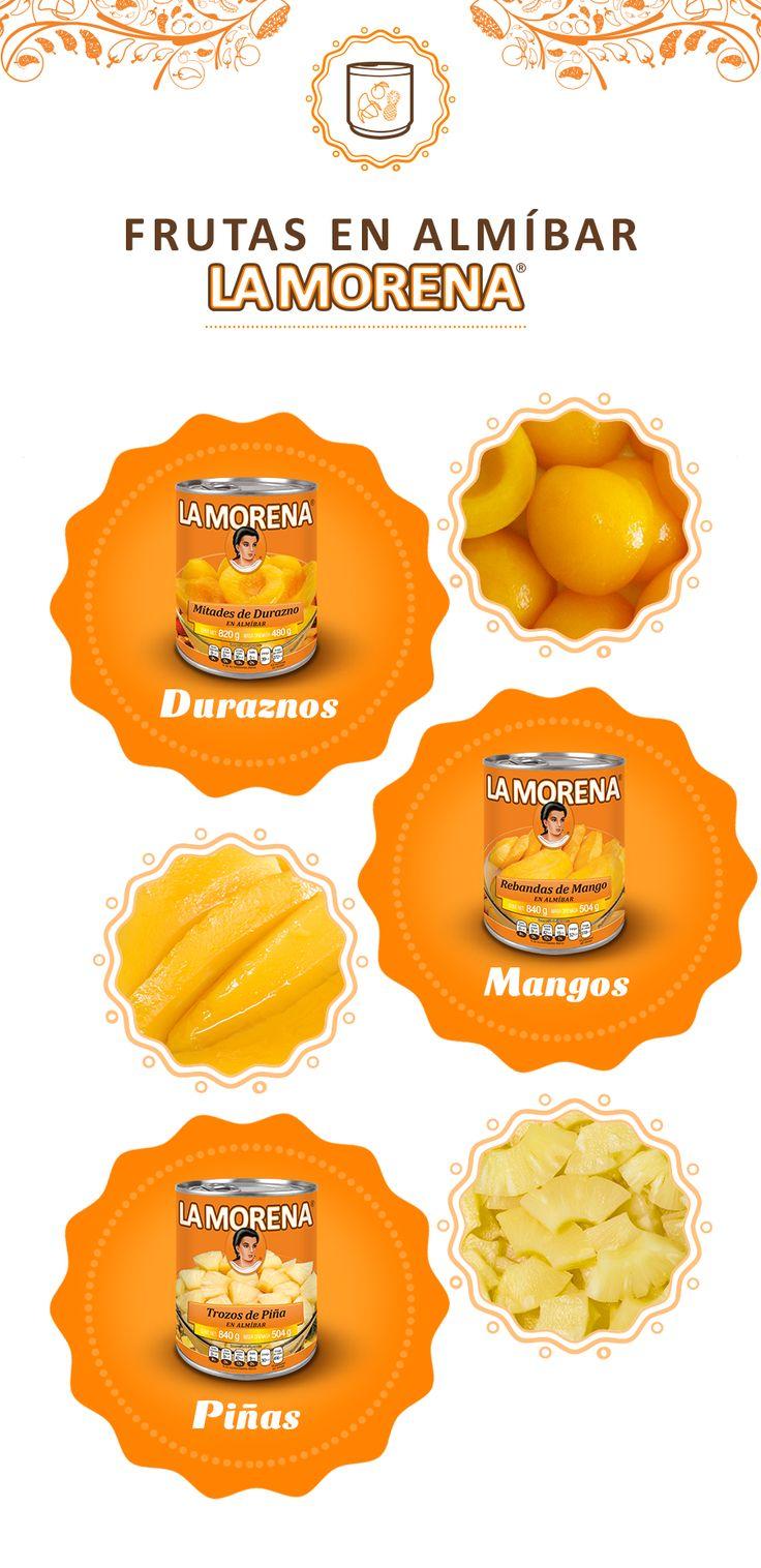 Para crear los mejores postres, las frutas en almíbar de La Morena son una excelente opción.