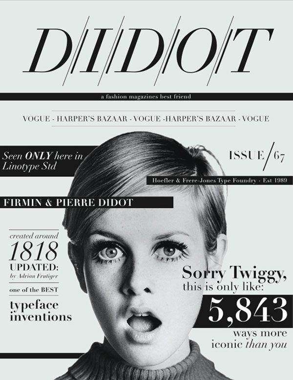 misscandicelauren:    Didot, the perfect font. Poster by _