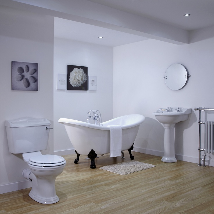 Ryther Double Ended Slipper Bath Suite