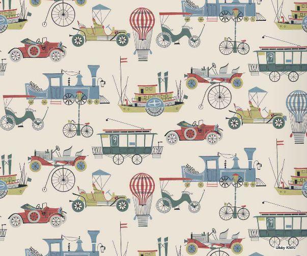 Lilleby Kids Behang Oude vervoersmiddelen art. 2692 - wandmuralbreed 90cm lengte 265cmWow wat een mooi behang, je blijft kijken, zoveel is er te zien!materiaal : vlak vliesbehanglevertijd : 10 tot 15 dagenLijmadvies : Perfax Roze