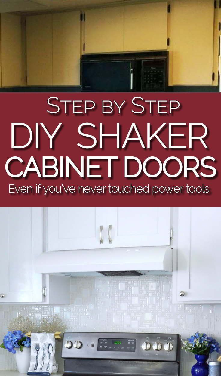 Make Shaker Kitchen Cabinet Doors On A Budget Kitchen Cabinets On A Budget Laminate Cabinets Update Kitchen Cabinets