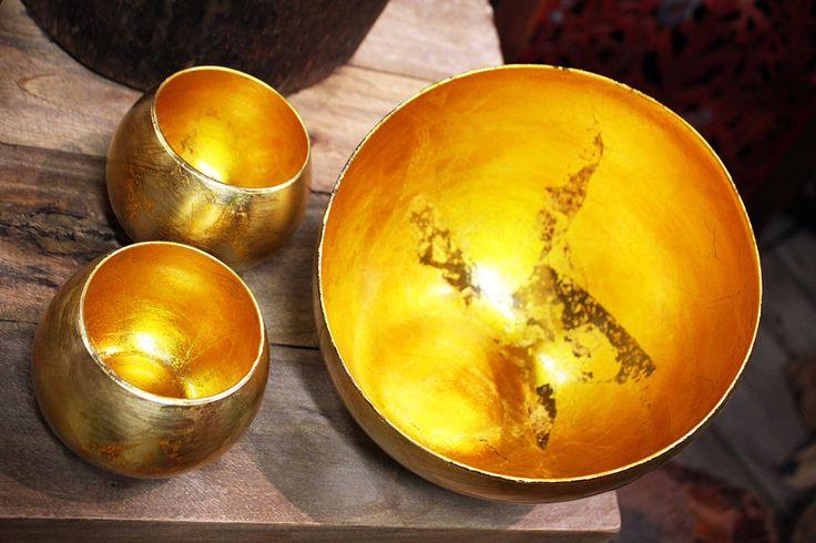 Set di #vasi in vetro #oro.