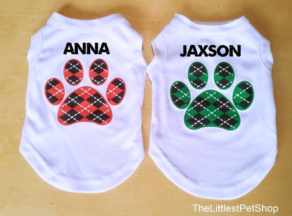 Custom Dog Shirt Personalized Name and by TheLittlestPetShop, $18.50