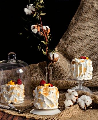 torched chocolate lemon cakes