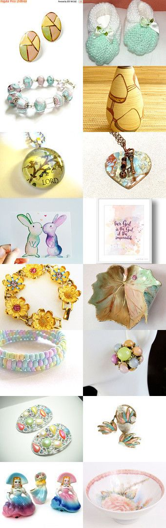 Pastel Palette by Bill and Shirley McAllister on Etsy--Pinned+with+TreasuryPin.com