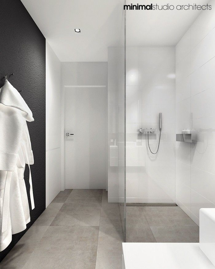 black, white + neutral bathroom #home #moderndesign #interiordesign