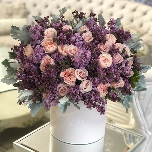 Designers Choice With Beloved Lilacs In 2020 Fresh Flower Delivery Flower Delivery Wedding Flower Arrangements