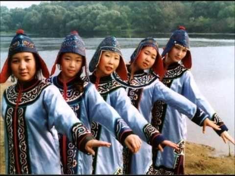 Young Nanai folk dancers. South Amur river, Siberia.