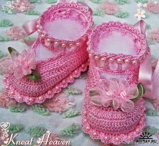 Patrones de patucos o escarpines de bebé [