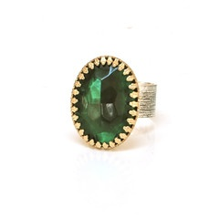 Re-Pin this Laura James Jewelry Oval Green Glass Cocktail Ring (adjustable band) if you'd like to own it!   One random winner to be drawn from all who Re-Pin it. Ready, set, go!  www.laurajamesjew...