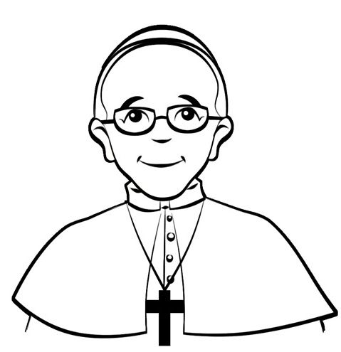 habemus papam pope francis coloring page