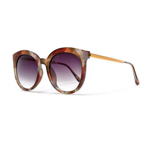 Oversized Retro Round 51mm Cat Eye Silhouette Sunglasses with Thin Met – Sunglass Spot