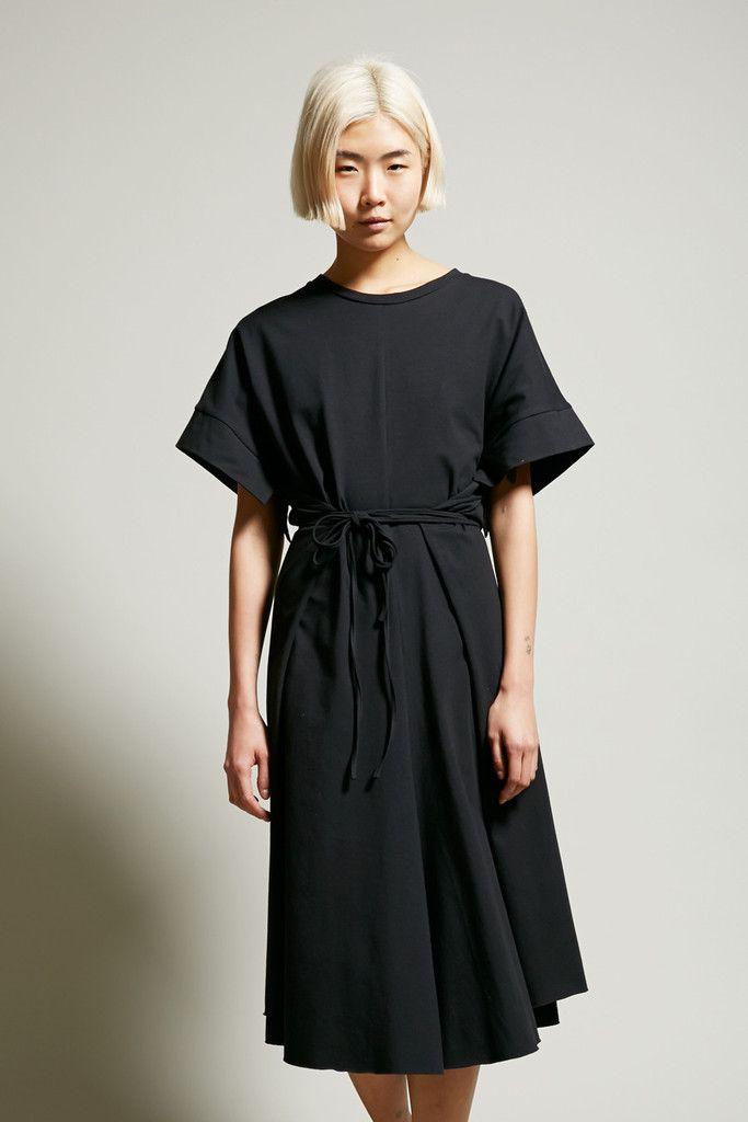 Boessert Schorn Wrap Dress in Black Jersey