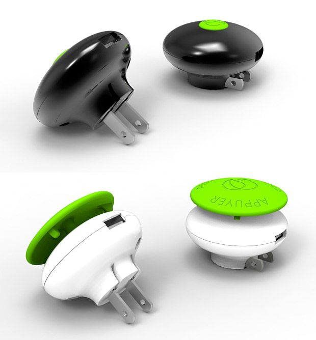 Energy-saving charger shuts off when your stuff is charged. It's cute too!