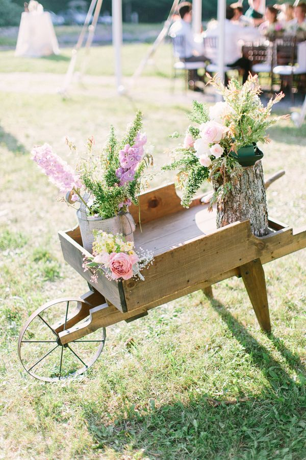 farm wedding, photo by When He Found Her http://ruffledblog.com/brooklands-farm-wedding #weddingideas #reception #decor