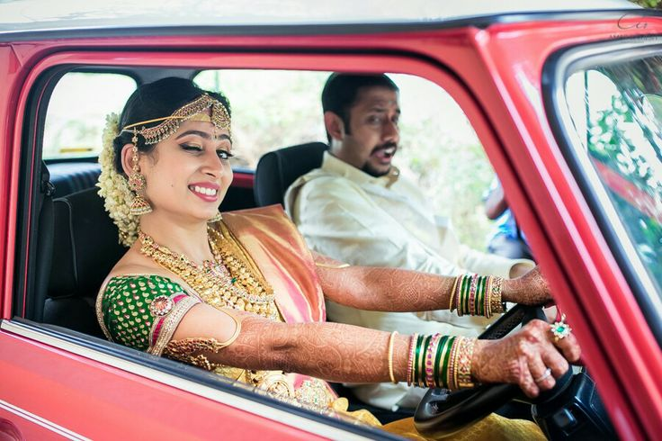 South indian bride and bridegroom