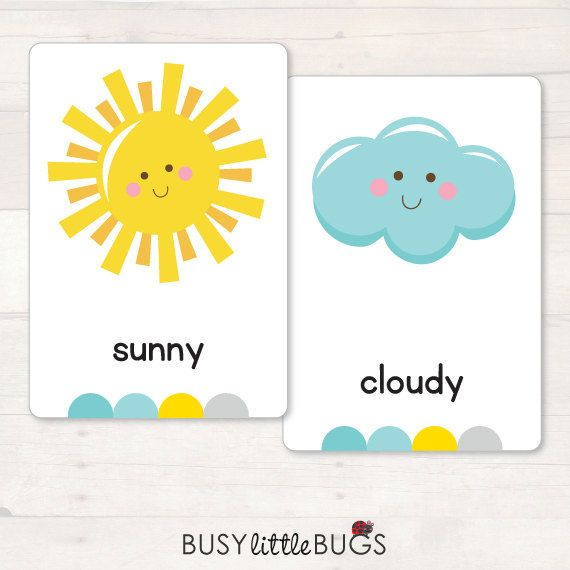 Weather Flash Cards AUTOMATIC DOWNLOAD by BusyLittleBugsShop