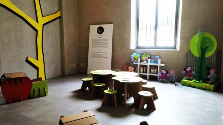 For Expo Milan 2015, the city of Brescia created BREND, a series of cultural events, from January to December 2015. Eco&You decided to set up the playground of Palace Martinengo, with its ecological cardboard furniture for children. http://eco-and-you.com/en/shop/
