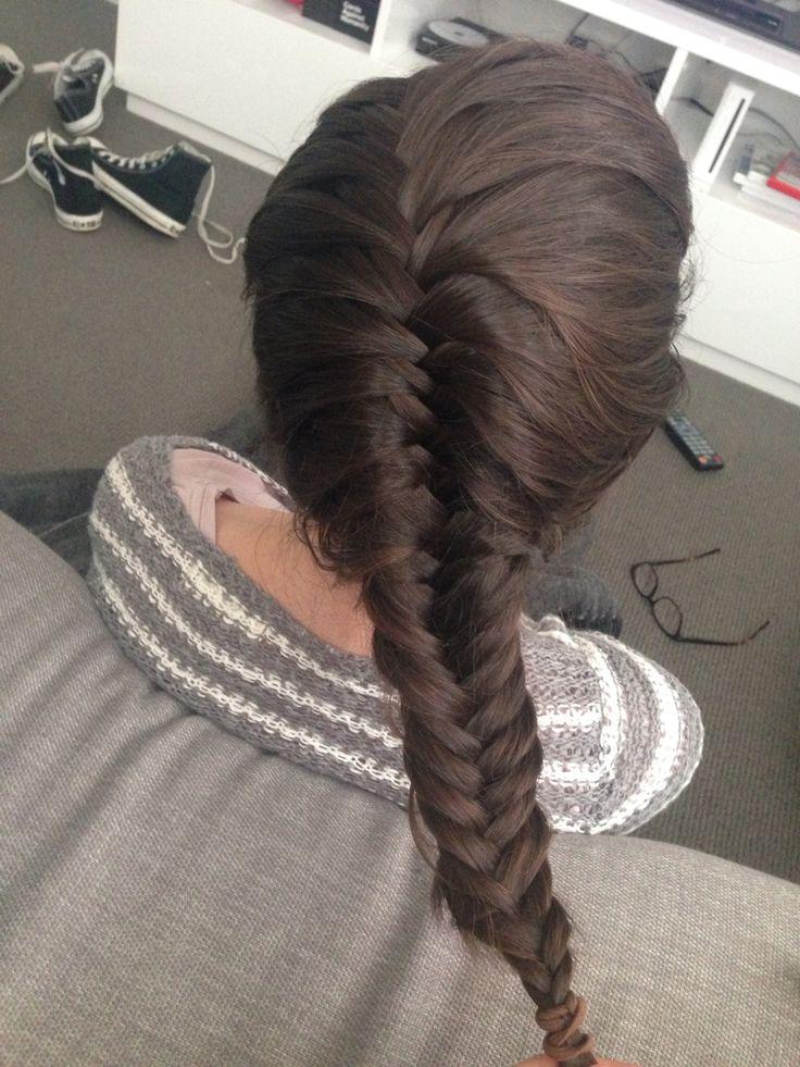 Loose fishtail braid, hair by Gabby