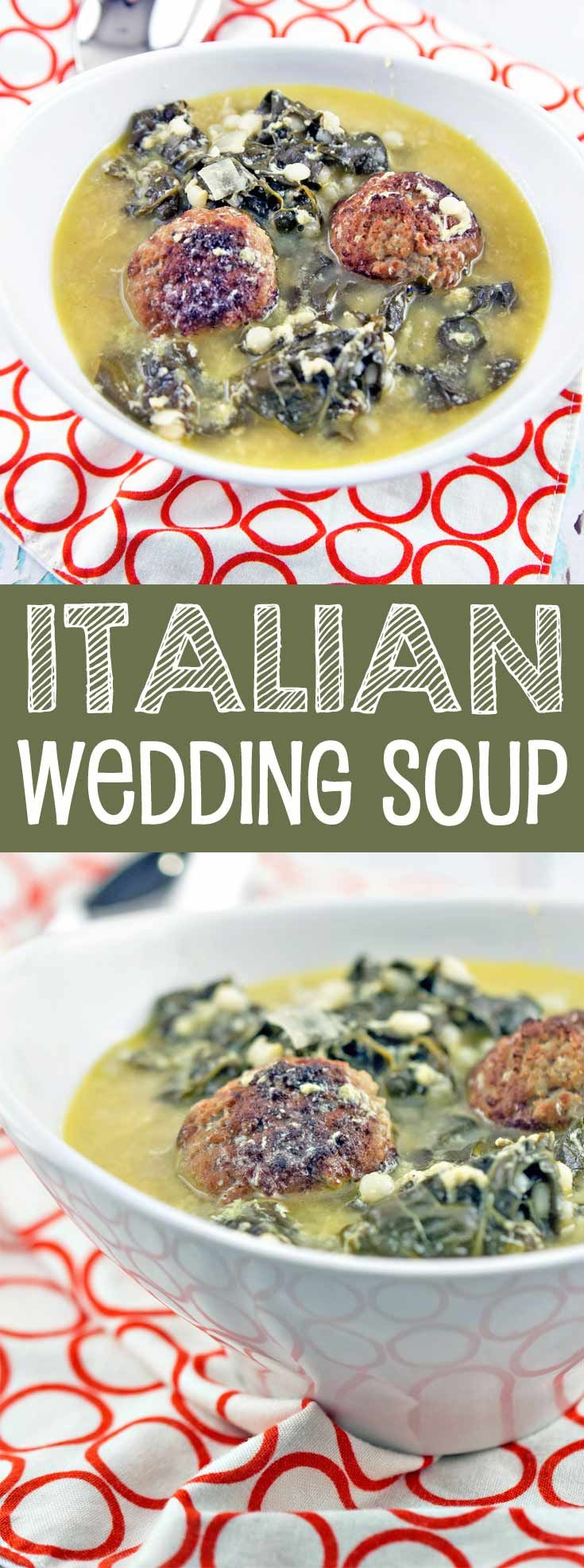 Italian Wedding Soup: a delicious, comforting favorite, made with things already found in your freezer and pantry. {Bunsen Burner Bakery} via @bnsnbrnrbakery
