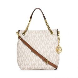 MICHAEL MICHAEL KORS Jet Set Medium Logo Chain Shoulder Bag