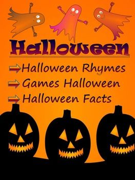 Halloween Facts - Rhymes - Games - Interactive PowerPoint presentation and PDF* Halloween  Facts* Halloween  Rhymes  * Games  Halloween   Where did Halloween originate from and why do we wear costumes?  Read the Halloween facts to find out the answers to these and other questions.The zip file contains: 1.
