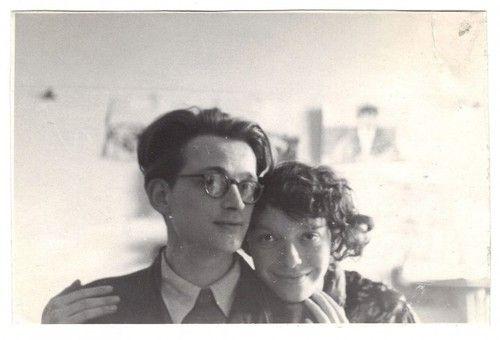 northmagneticpole: Autoportret z żoną, maj 1954-Andrzej...