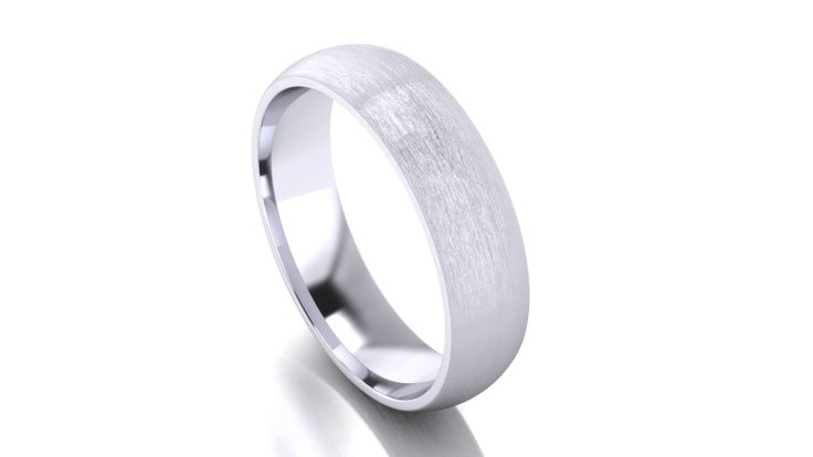 The simple and practical design of the half round wedding band is a popular…
