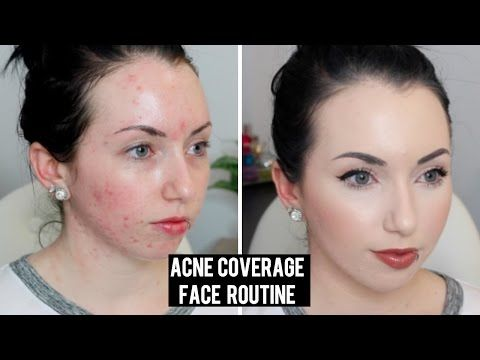 FULL COVERAGE Long Lasting Current Foundation Routine | Acne Coverage & Pale Skin Makeup - YouTube